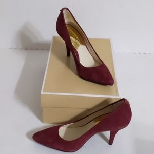 Michael Kors(5)Merlot Suede Flex MId Pump Stiletto